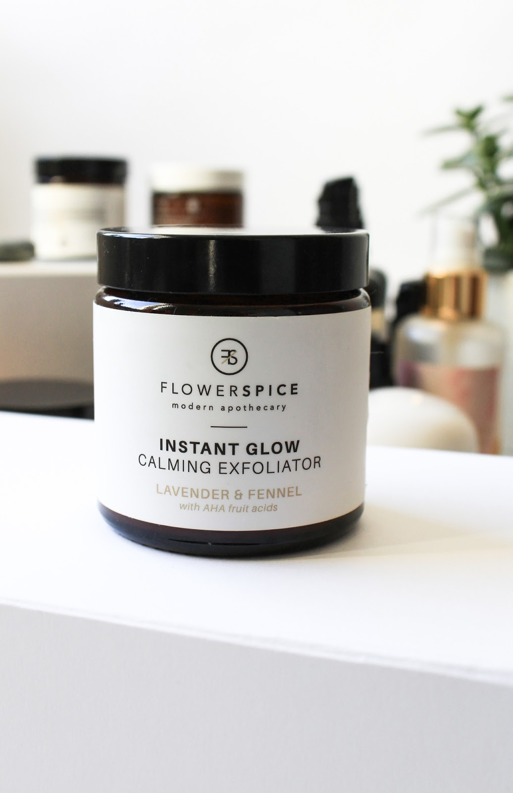 Flower and Spice Instant Glow Claming Exfoliator Lavender and Fennel