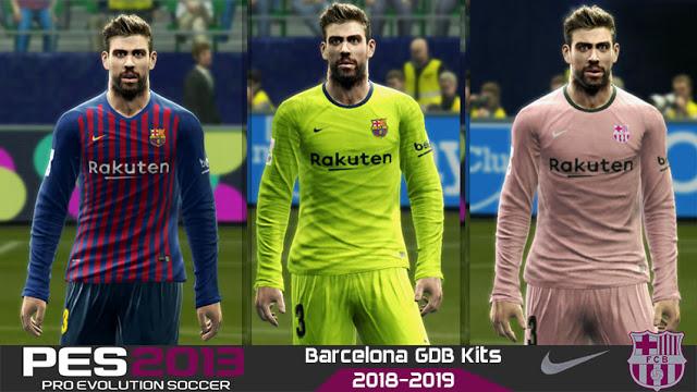 PES 2013 FC Barcelona Full Kits 2018-2019 BY Luca19