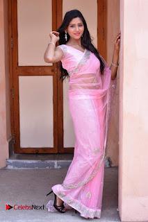 Telugu Actress Shalu Chourasiya Stills in Cute Pink Saree at Pochampally IKAT Art Mela  0019.jpg