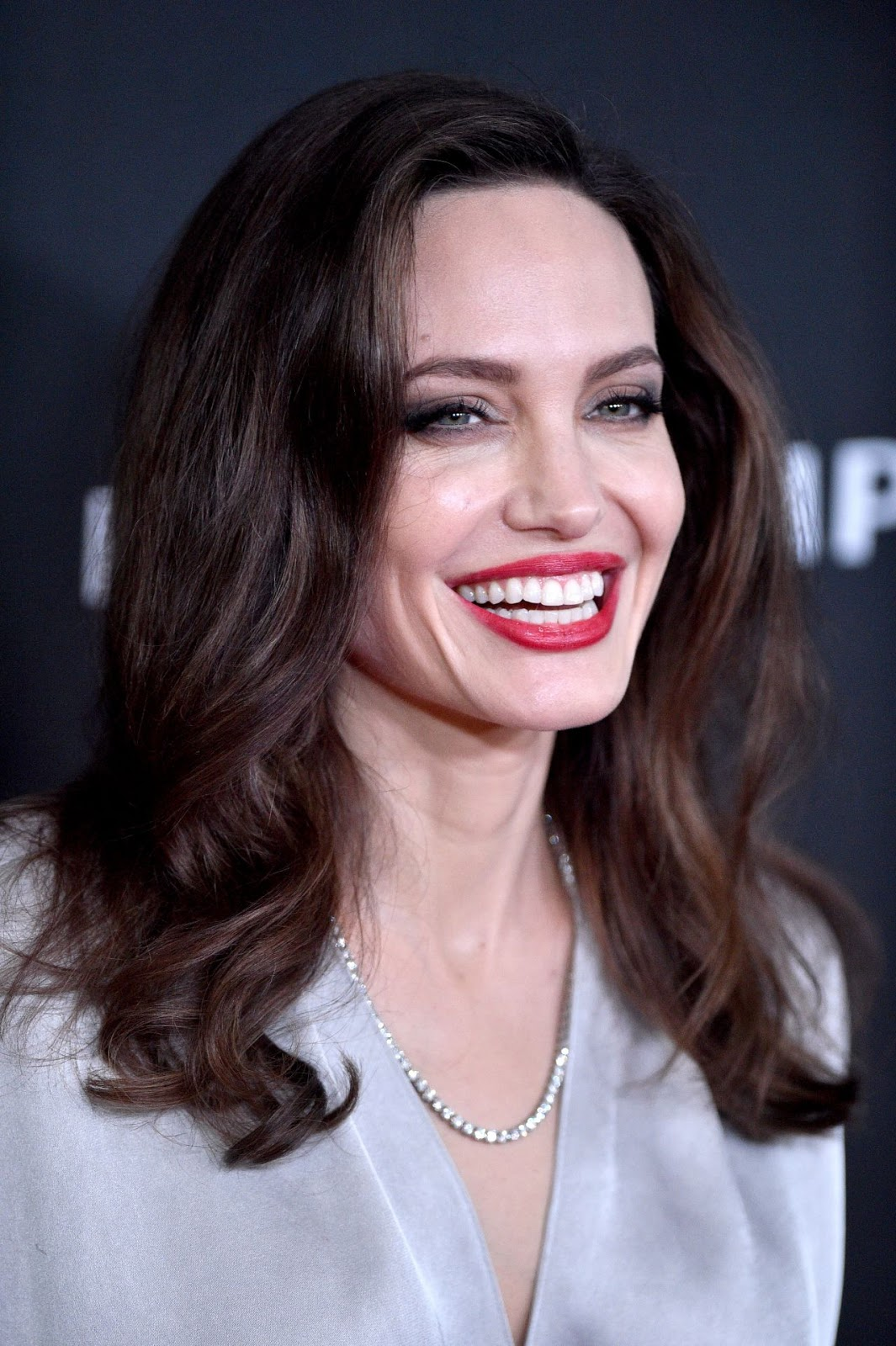 Angelina Jolie Wears Plunging Wrap Dress To The 2017