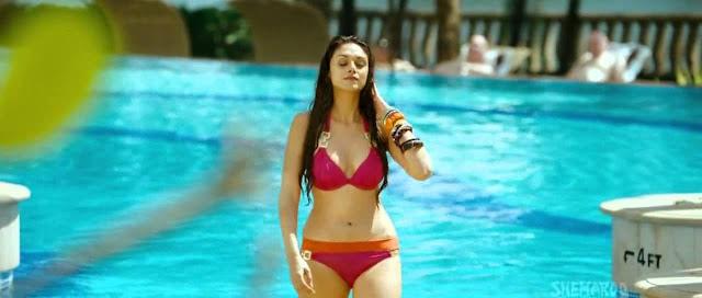 Aditi Rao Hydari Hot In Pink Bikini Boss Movie