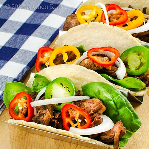 Shredded-Beef Soft Tacos