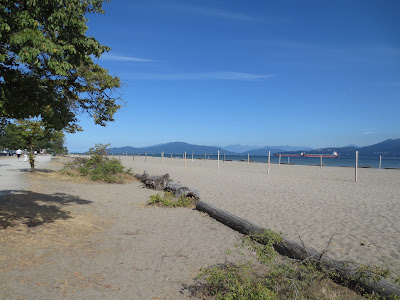 Volleyball nets at Spanish Banks, Vancouver, BC