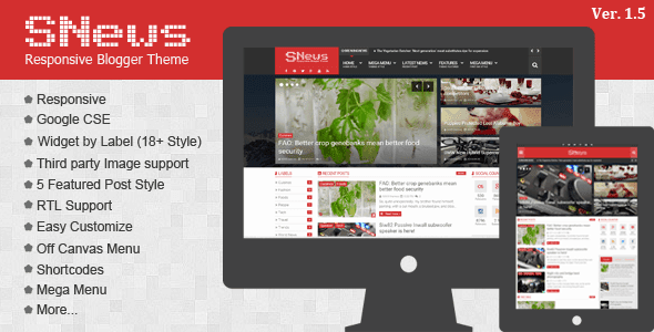 SNews  Magazine Responsive Blogger Template