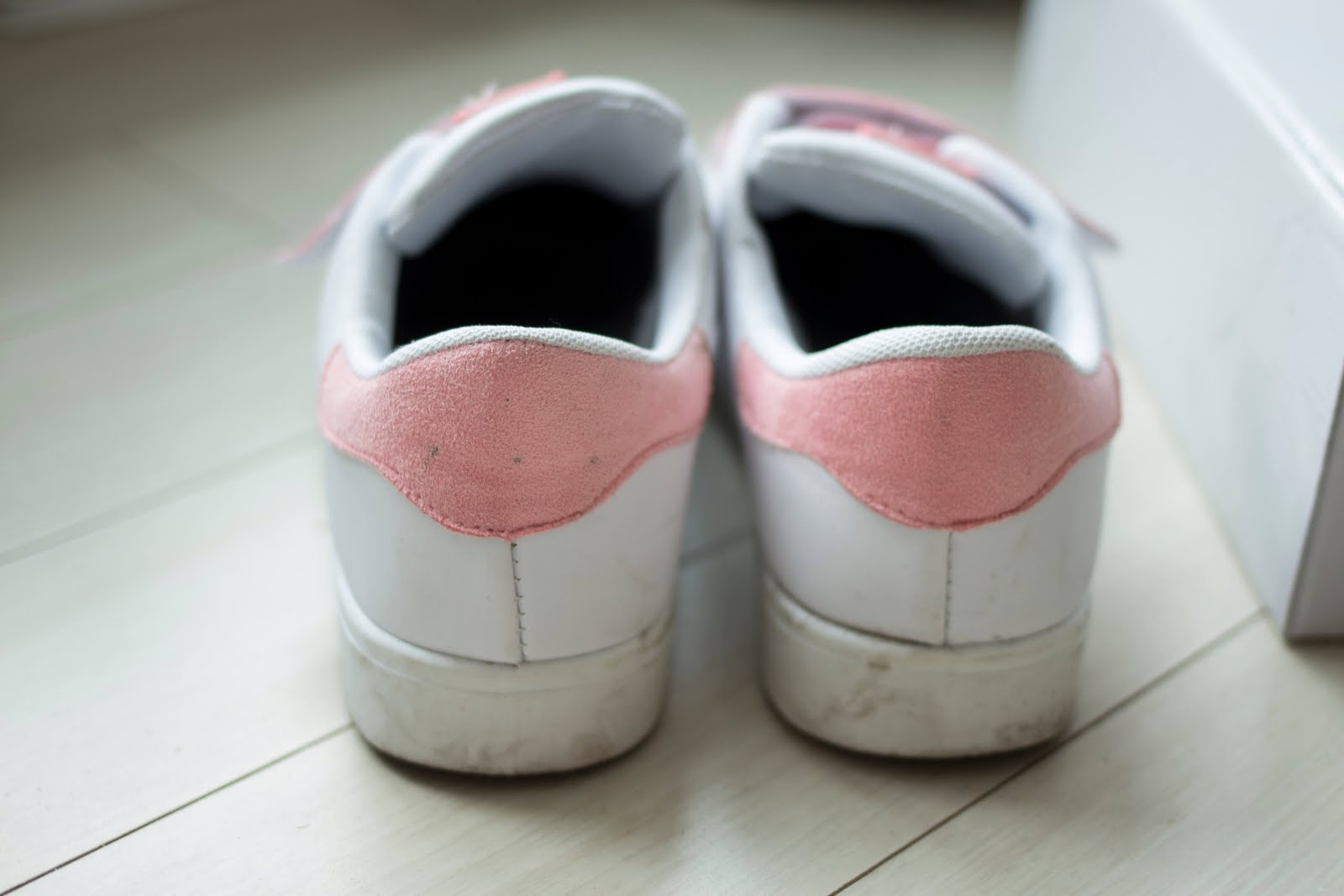 baby pink velcro trainers fashion blogger style