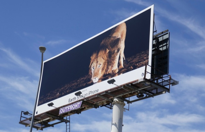 Earth Shot on iPhone Lion Varun A billboard