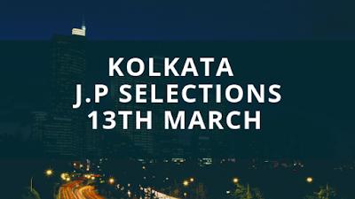 Kolkata Jackpot Selections 13th March, indiarace com