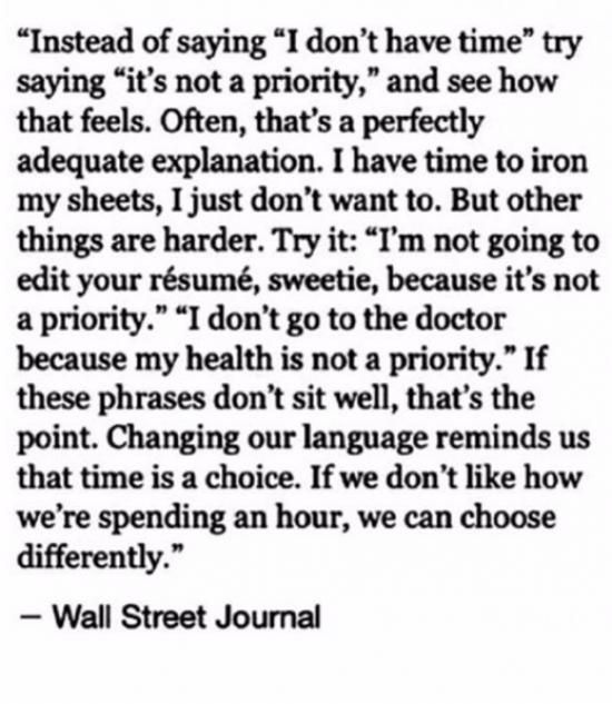 priority wall street journal quote
