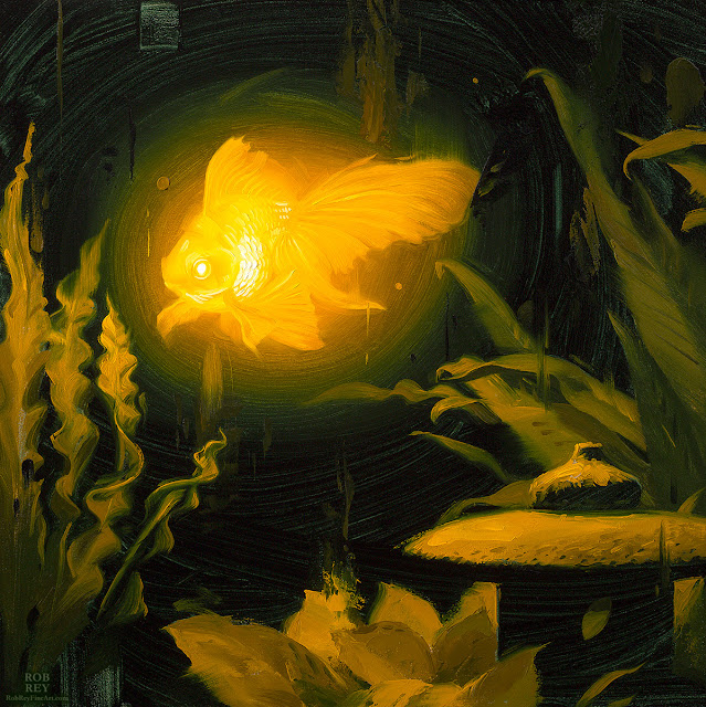 Bioluminescence,Goldfish by Rob Rey - robreyfineart.com