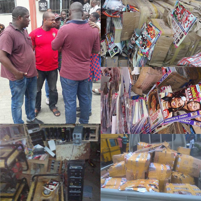3 piracy suspects arrested at Alaba with N50m worth of materials
