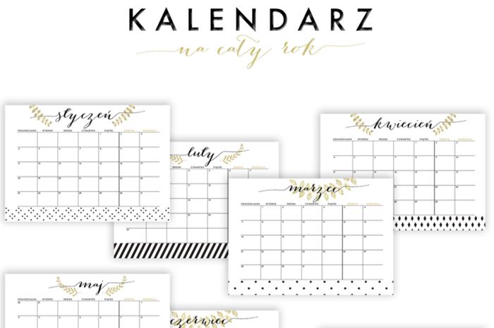 kalendarz za darmo, kalendarz do druku, kalendarze za free, 2016