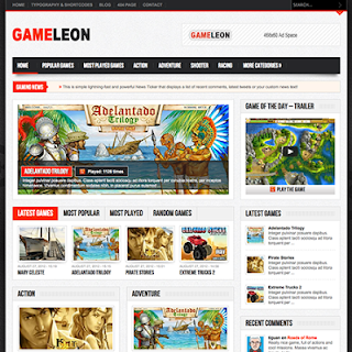 Gameleon - WordPress Theme for Online Game