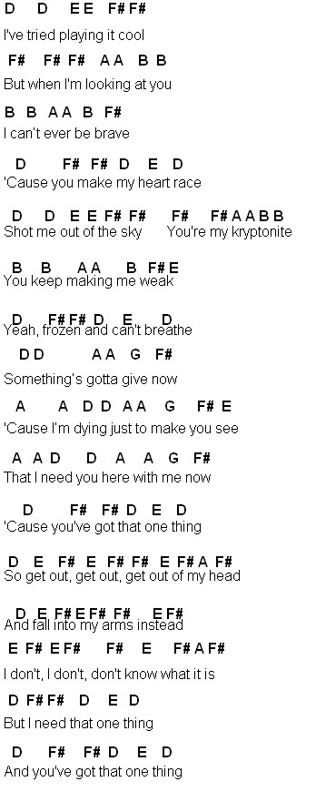 Xylophone chords of one thing
