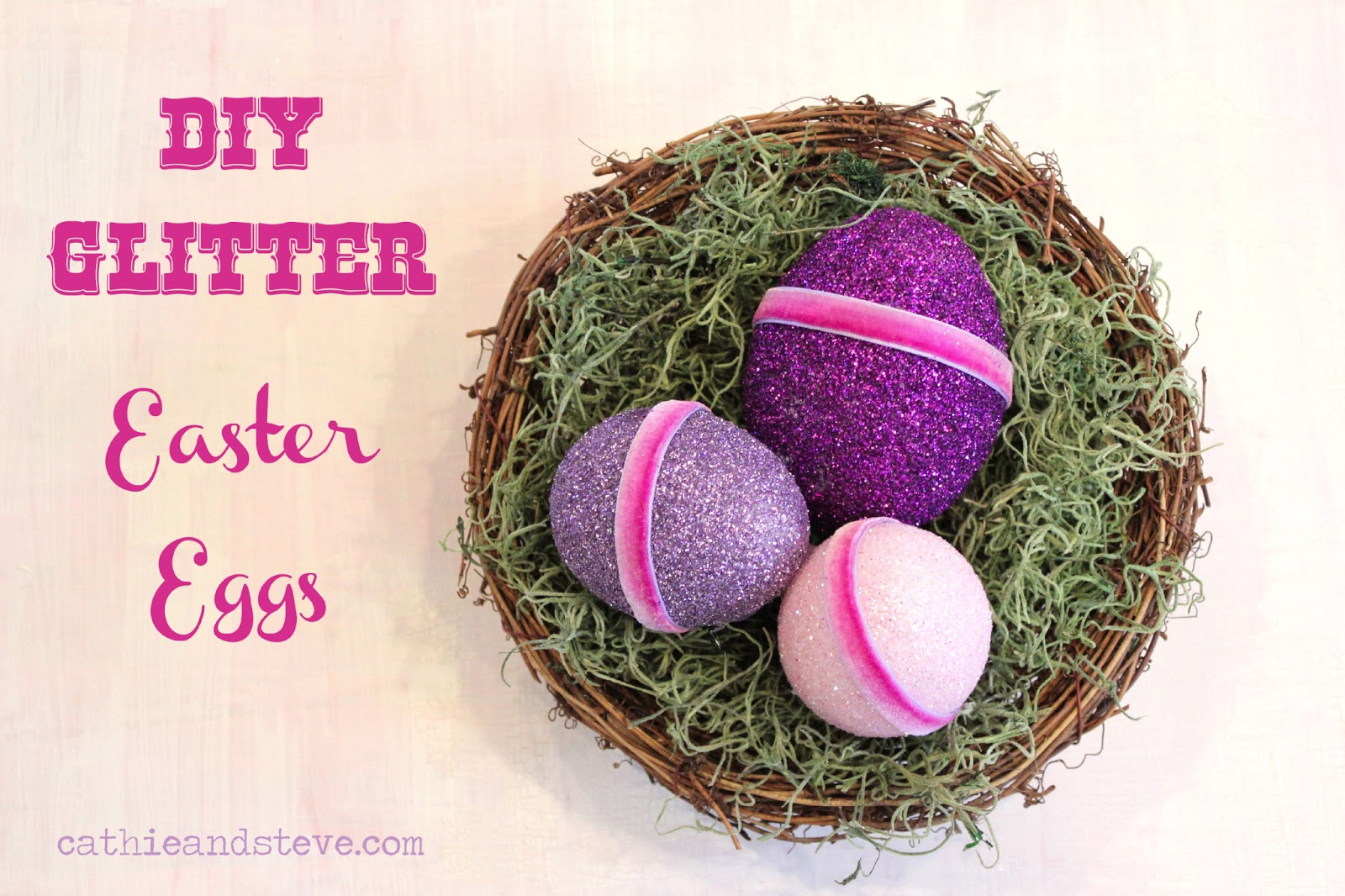 Cathie Filian: DIY Glitter Easter Eggs with Mod Podge