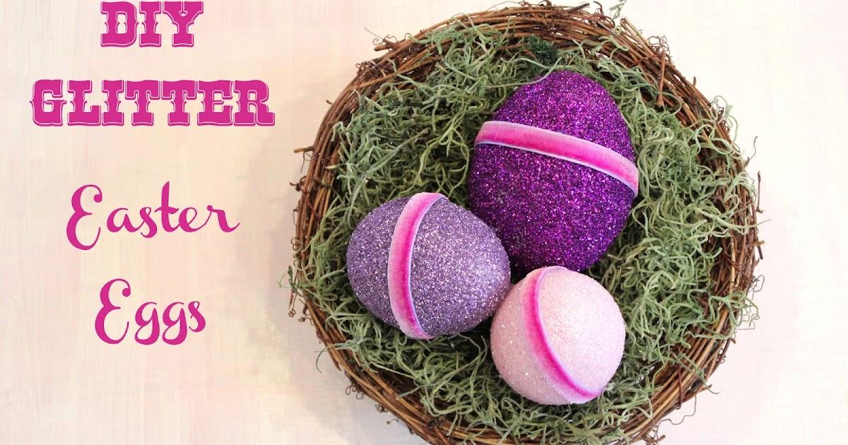 Cathie Filian: DIY Glitter Easter Eggs with Mod Podge