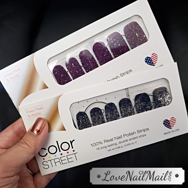 Color Street Bordeaux Glitz and Lisbon Nights  |  www.LoveNailMail.com