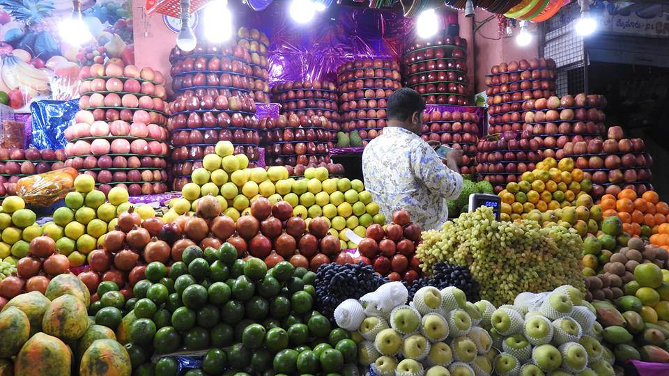 fruits marche au kerala inde