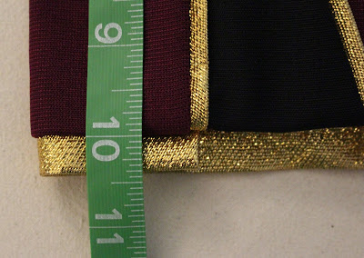 TNG season 1 admiral jacket - sleeve trim