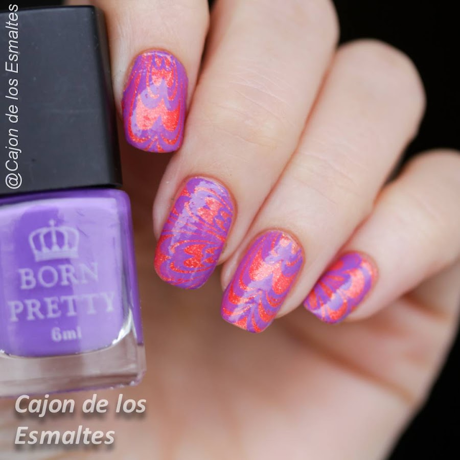 Uñas de Halloween - Violeta y naranja