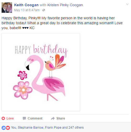 Thinking pink birthday greetings for someone who happens to love birthdays and being spoiled rotten with greetings facebook and social media are really great about showering you with m4hsunfo