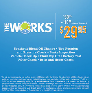 The Works Discounted Oil Change at the Quicklane inside Gresham Ford
