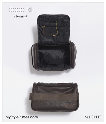 Miche Men's Dopp Kit or Travel Bag from MyStylePurses.blogspot.com