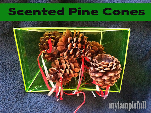 Make Your Own Scented Pine Cone Ornaments