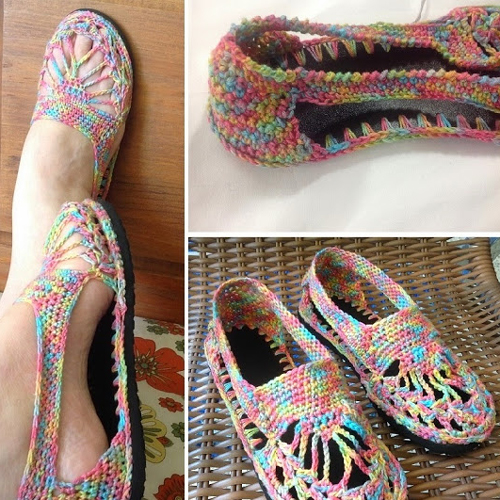 Colorful Delicate Shoe for Summer - Tutorial