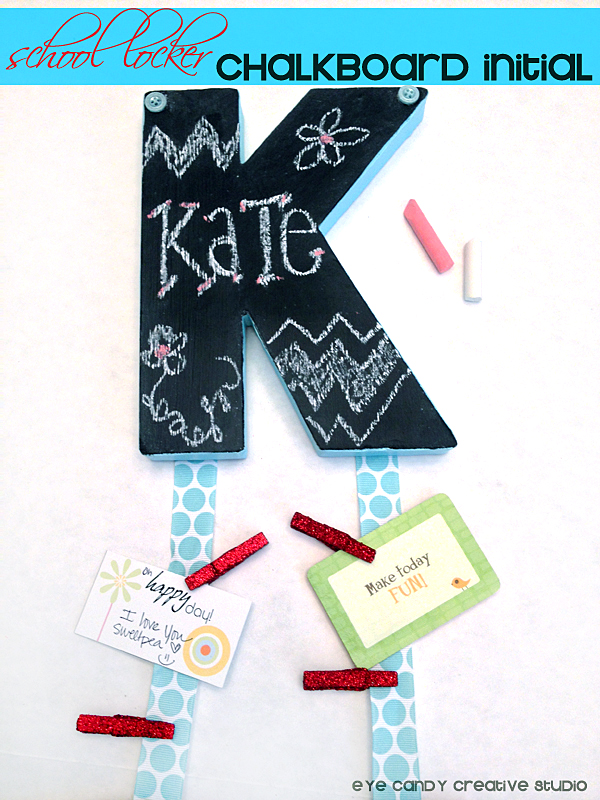 chalkboard craft, school locker decor, chalk, fun notes, back to school craft