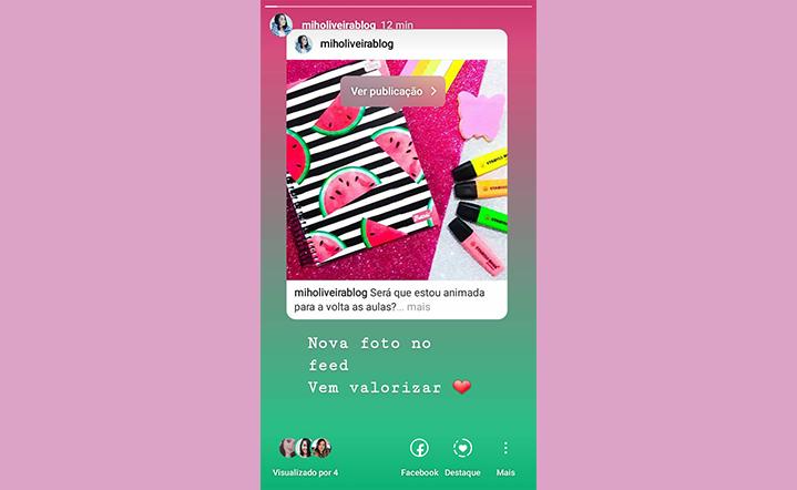 como compartilhar publicações do feed no stories do instagram