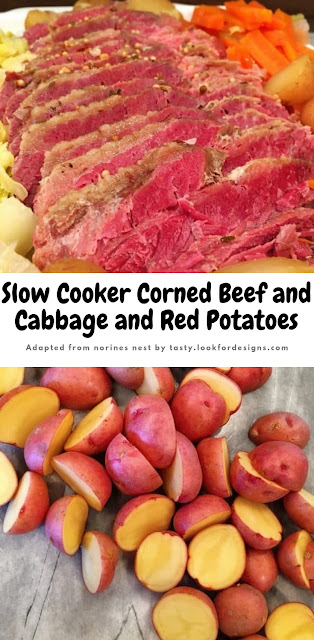 Slow Cooker Corned Beef and Cabbage and Red Potatoes