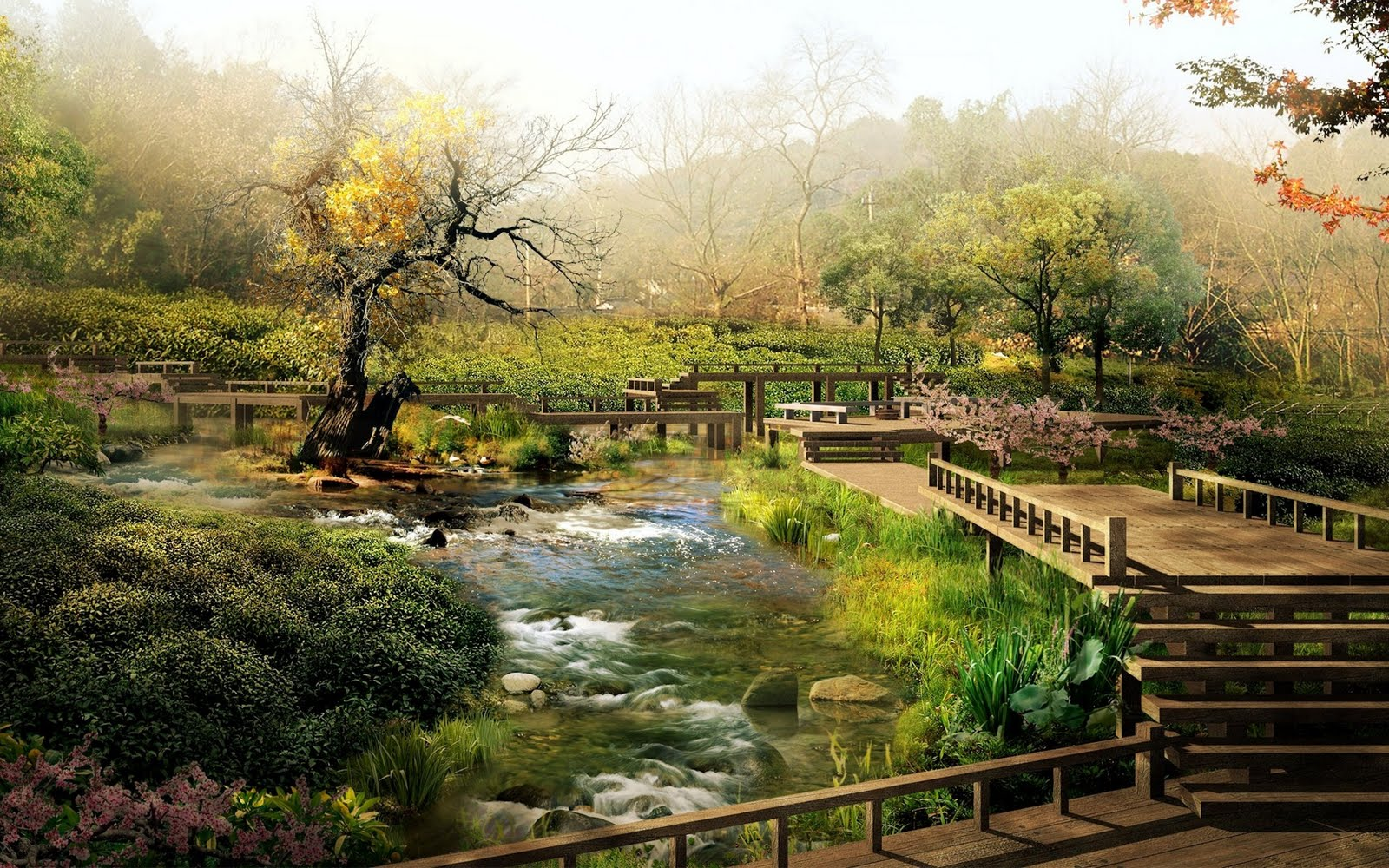 chinese garden wallpaper in hd - photo #23