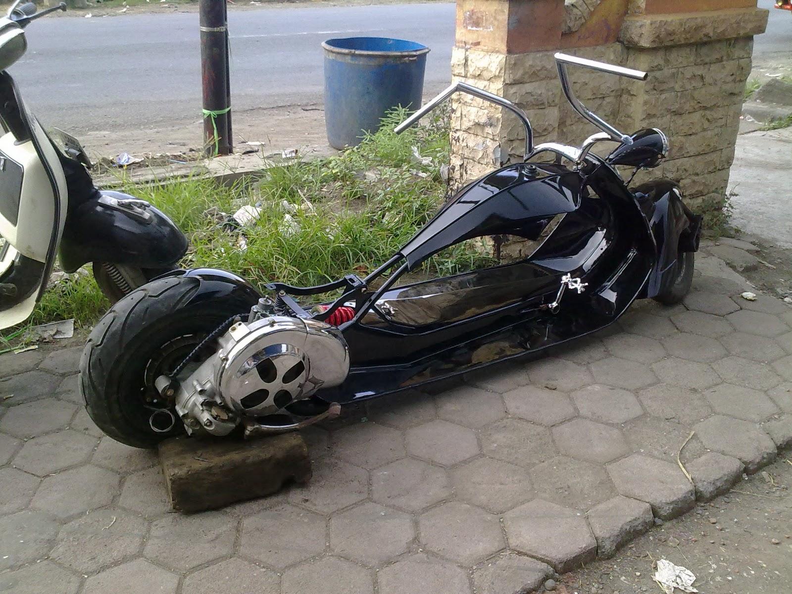 Kumpulan Modifikasi Vespa Racing Indonesia Combo Modifikasi