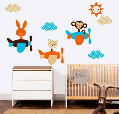 Vinilos decorativos para habitaciones infantiles for Vinilos decorativos pared infantiles