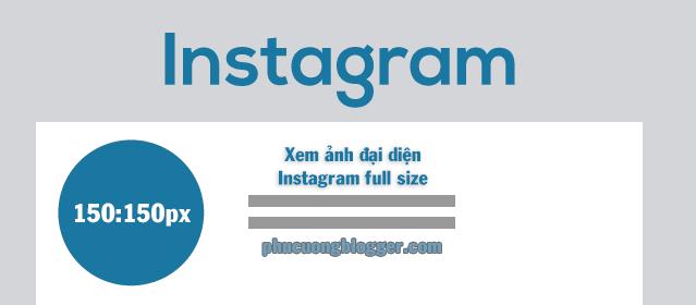 Cách xem ảnh đại diện full kích thước trên Instagram