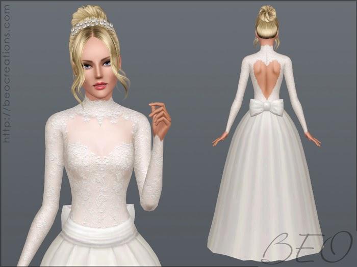 My Sims 3 Blog: Valentine's Wedding Dress By BEO