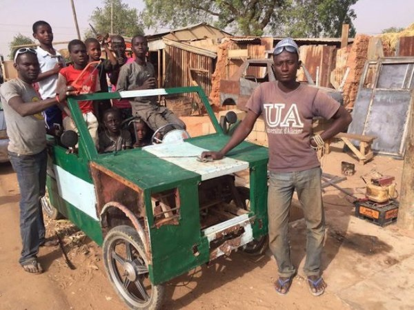 Photos: Nigerian SS3 Student Builds Car From Scrap In Kebbi State