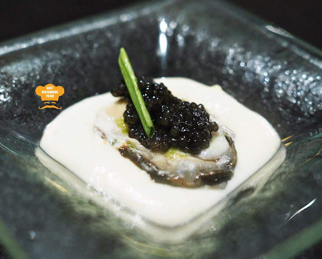 Oyster Served With Caviar and Cauliflower