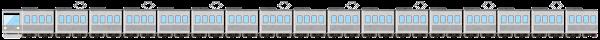 電車のライン素材(グレーの)