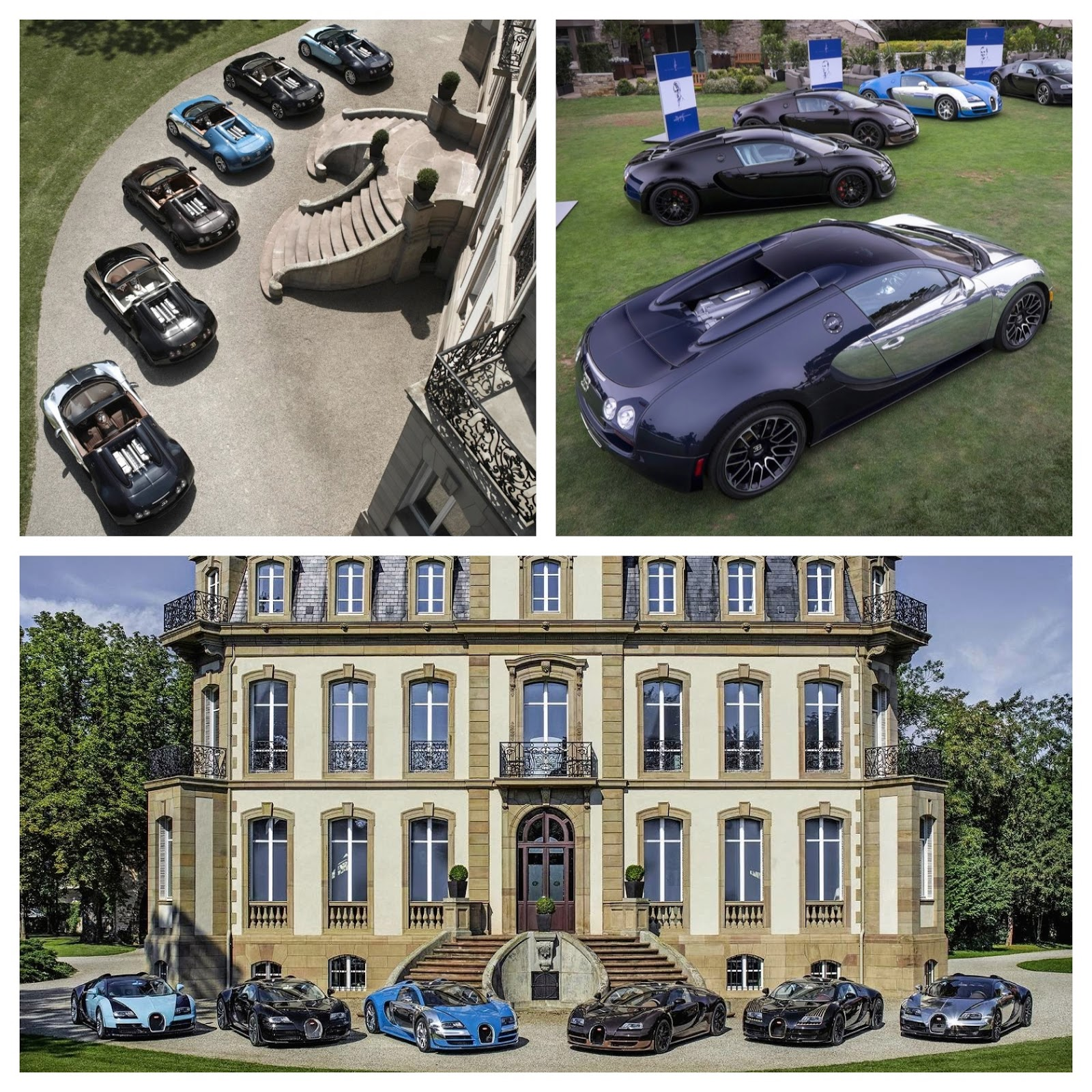 Six Limited Editions of Bugatti Veyron