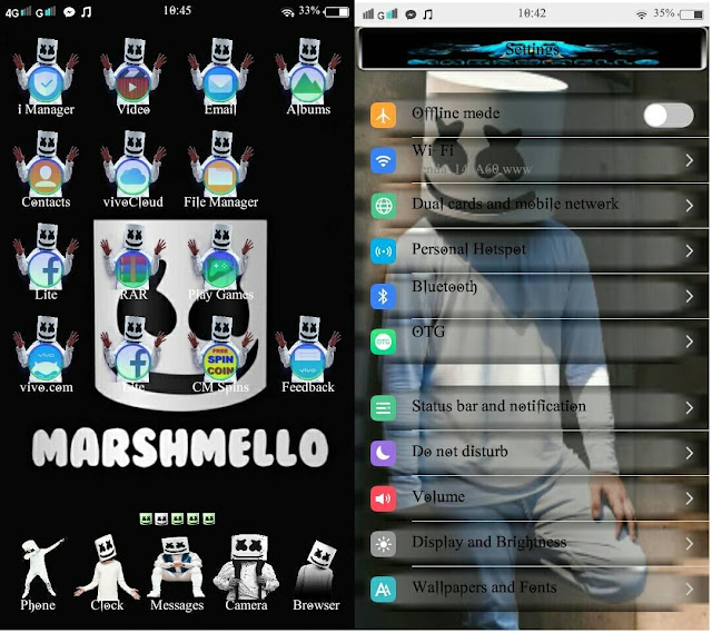 Marshmello Theme For Vivo Smartphone