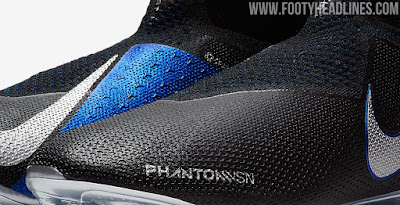 ddf8029be11115 Black   Blue   Silver Nike Phantom Vision 2018-2019 Boots Leaked