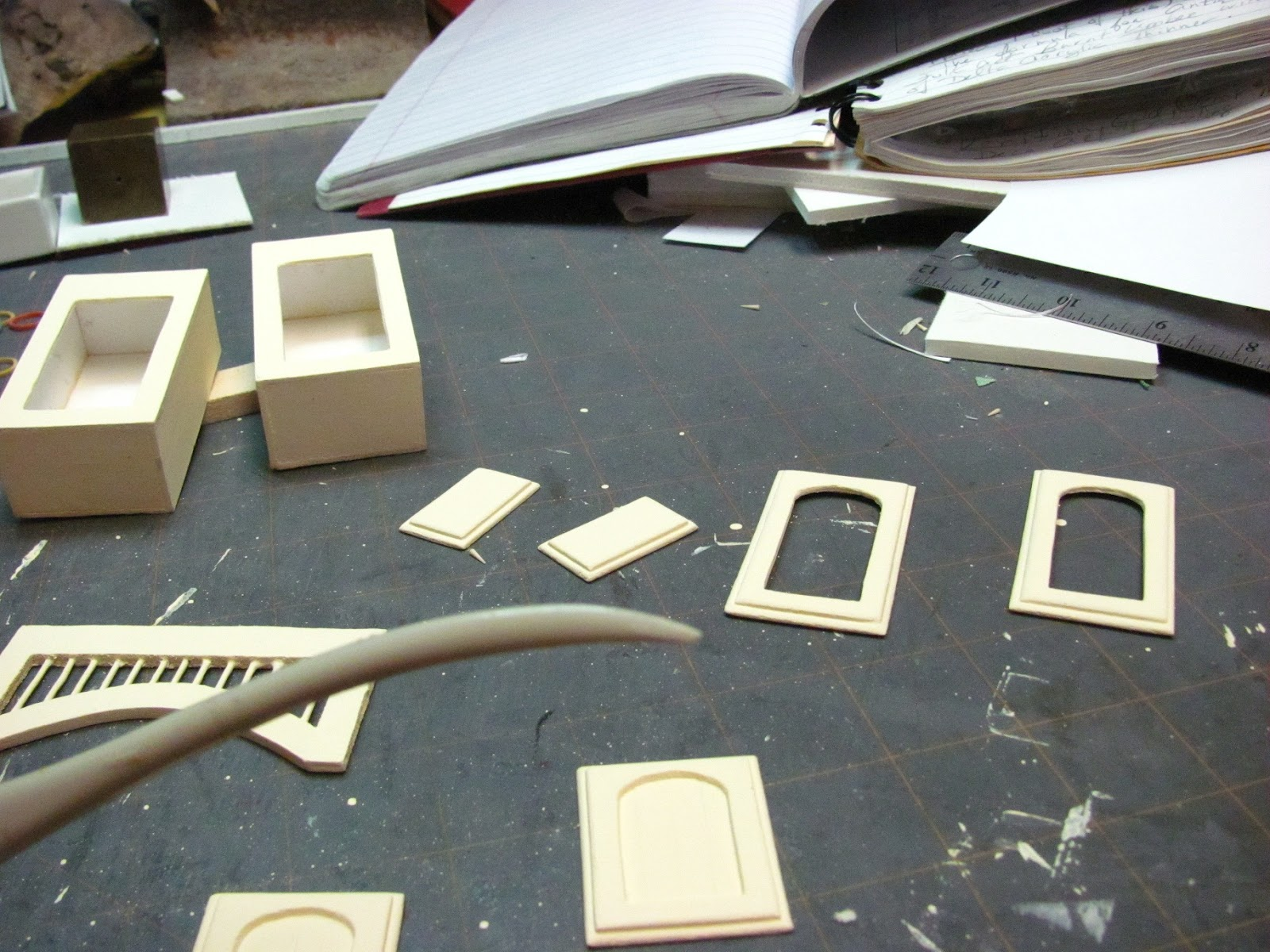 Dollhouse Miniature Furniture Tutorials 1 Inch Minis Kitchen Cabinets How To Make Contemporary Kitchen Cabinets From Mat Board Finishing The Cabinets