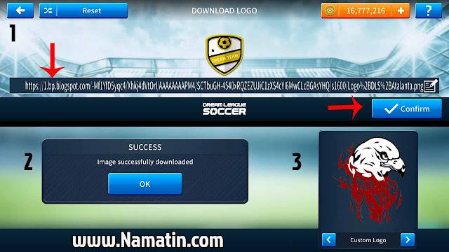 cara import logo dream league soccer 2019
