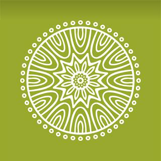Yeşil Desen Vektör