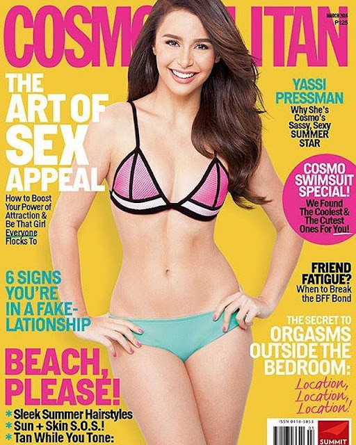 Yassi Pressman Cosmopolitan March 2016 Cover Girl
