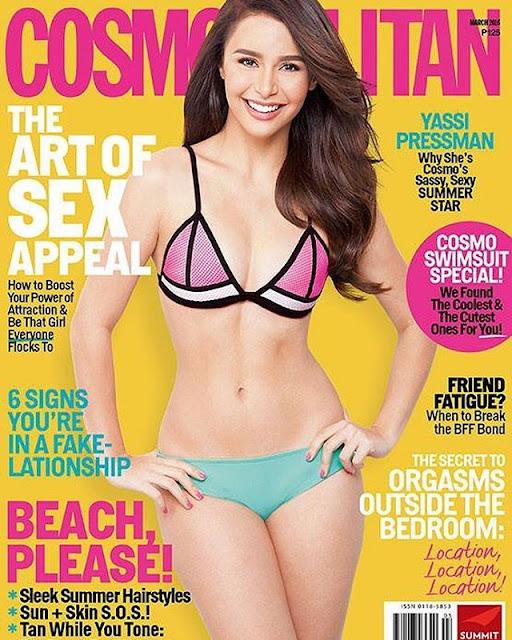Yassi Pressman Cosmopolitan March 2016 Cover Girl