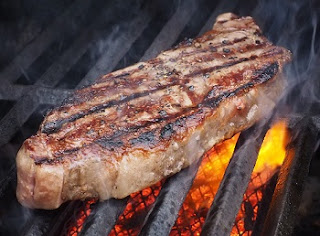 Juicy Steak on the Grill