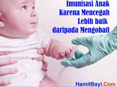 Imunisasi Anak Mencegah Lebih baik daripada Mengobati