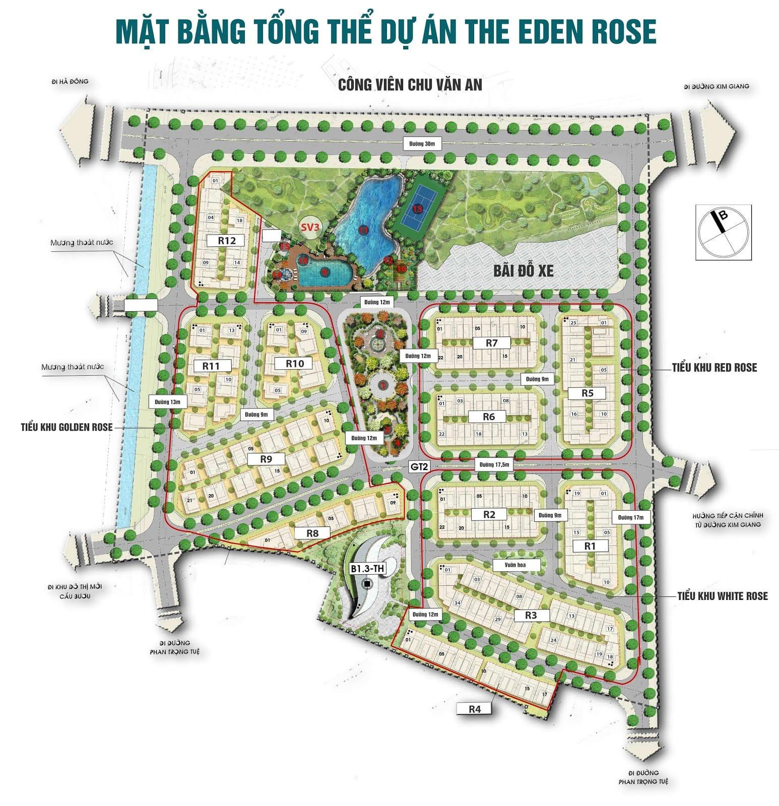 Tổng thể dự án The Eden Rose